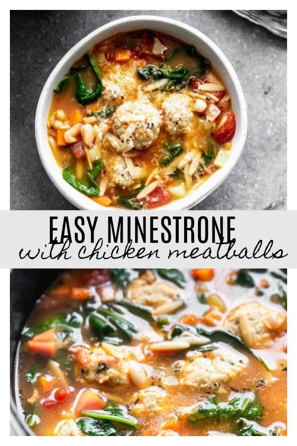 Photo of Italian Minestrone Soup with Chicken Meatballs – Cooking for Keeps
