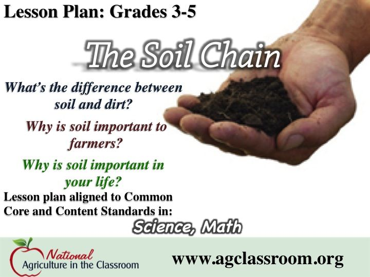Lesson Plan About The Importance Of Soil! Follow Link For Free