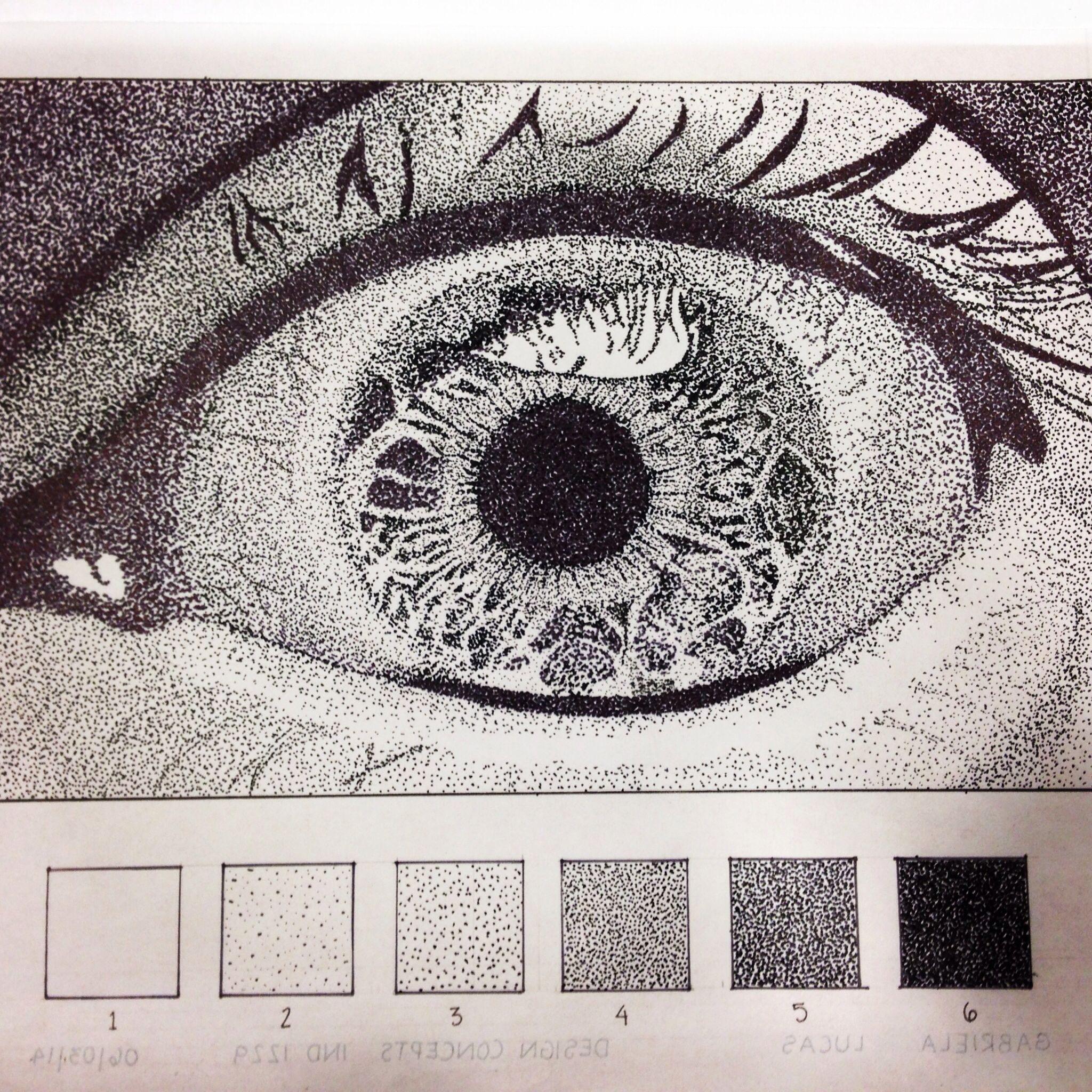 Stippled Eye Enlarged