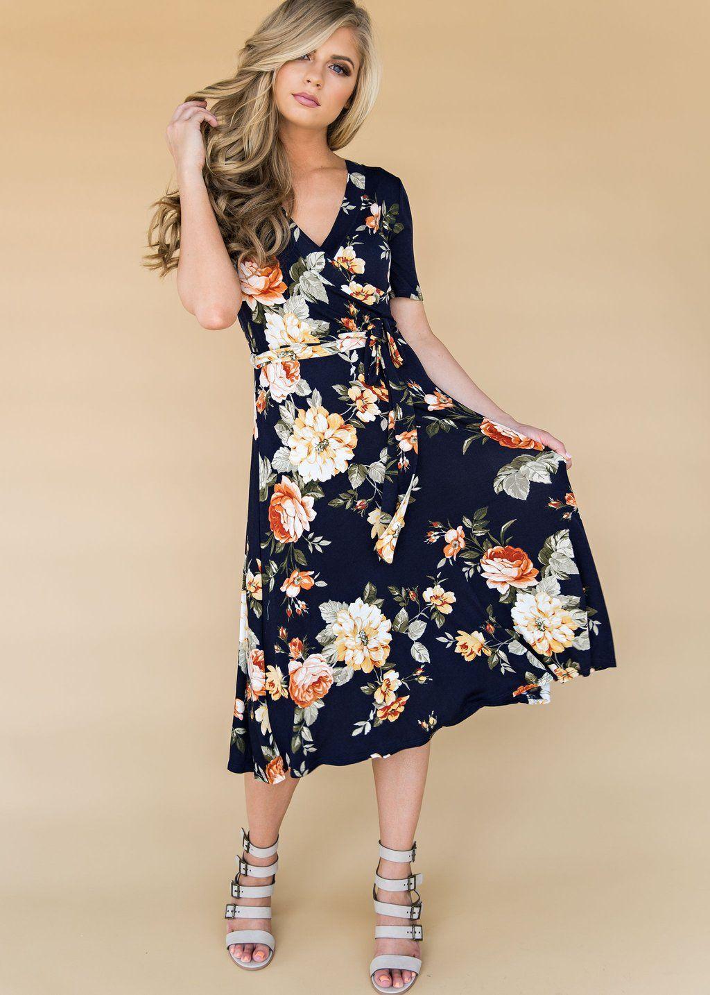 Navy Liya Wrap Floral Fashion Style Floral Dress Nursing Friendly Dress Wrap Dress Floral Print Blonde Hair Hair Nursing Friendly Dress Fashion Dresses [ 1434 x 1024 Pixel ]