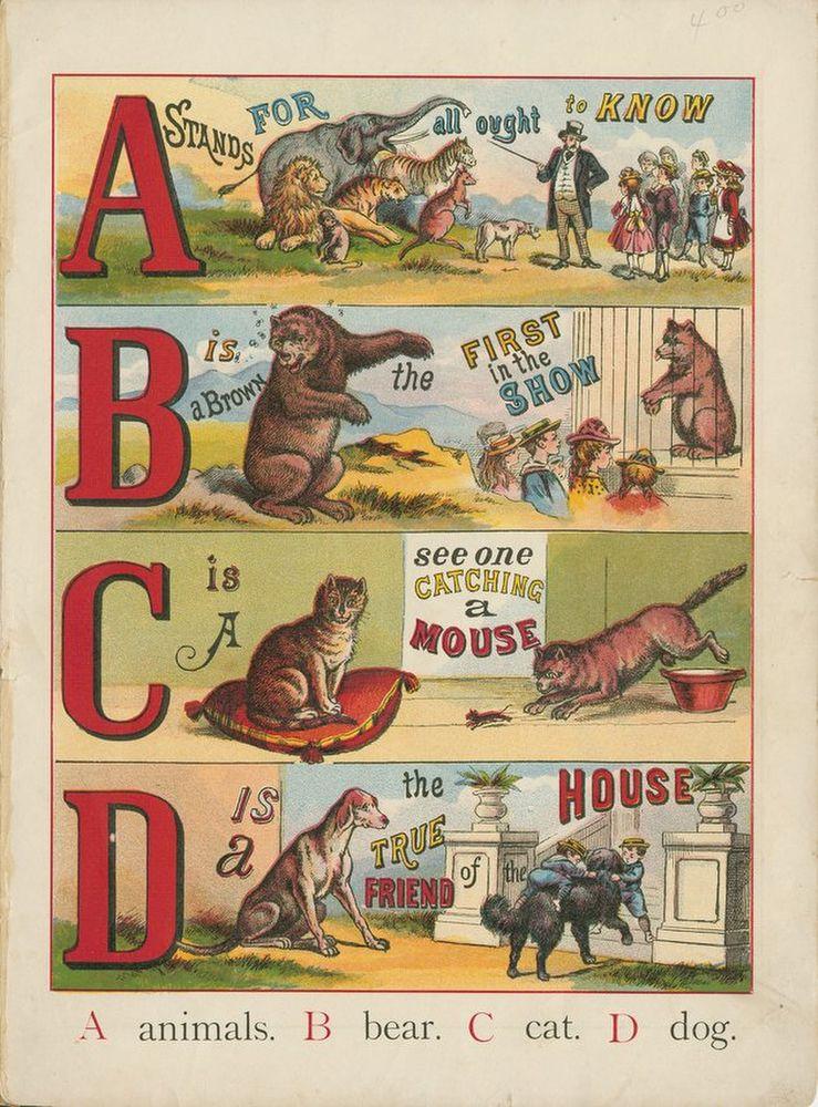 Public Domain Images The Abc Of Animals Vintage Childrens Book Free Public Domain Images