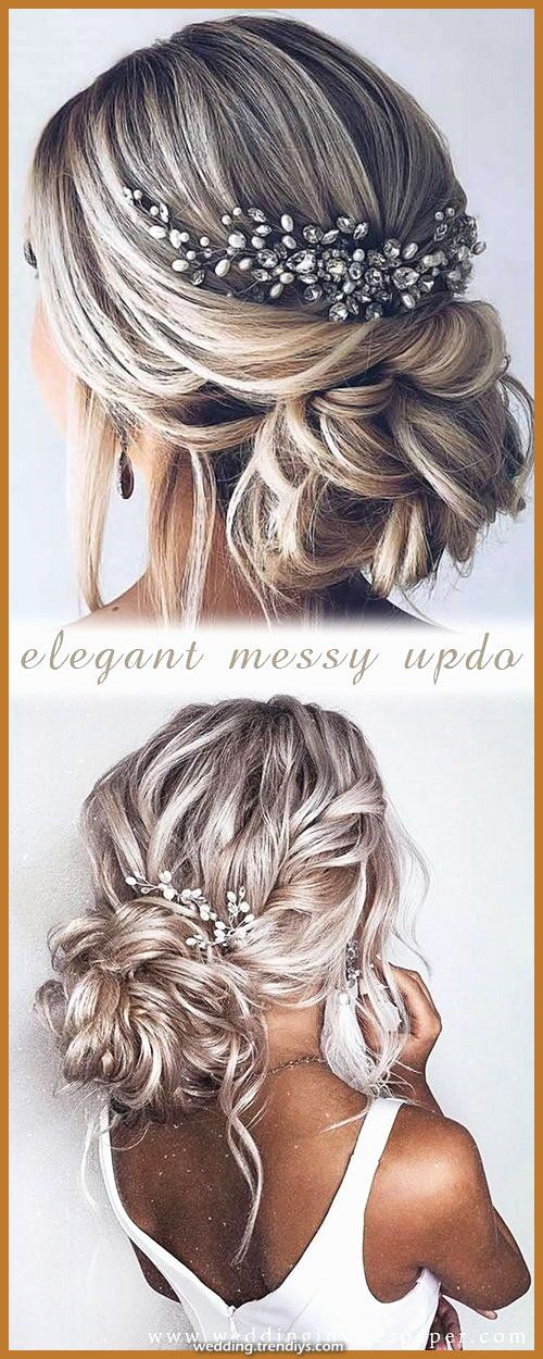 Magical lovely marriage ceremony hairstyles  elegant updo coiffure with lovely headdresses  Informations About Gorgeous Wedding Ha