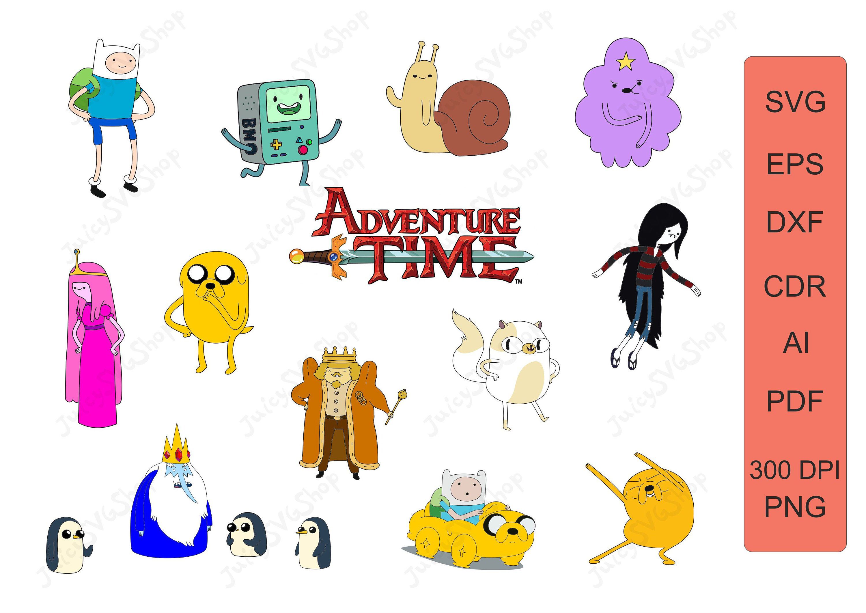 Excited To Share This Item From My Etsy Shop Adventure Time Svg Adventure Time Clipart Jake And Finn Svg Princess Bubble Gum Png Finn The Human And Jake T