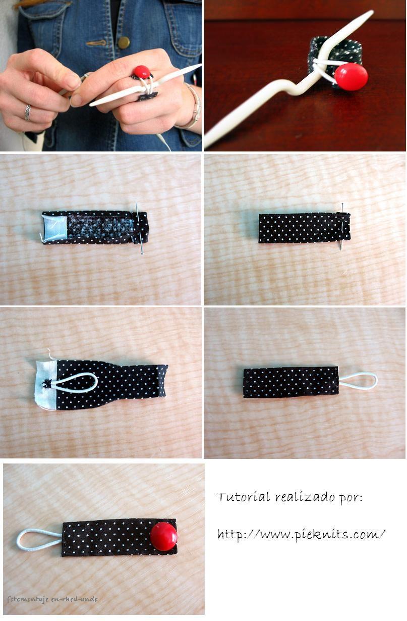 Cable needle holder -- DIY Anillo Sujetador