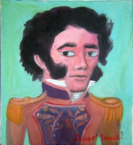 Facundo Quiroga. Cuadro en venta de la Serie Historia Argentina del artista plastico Diego Manuel