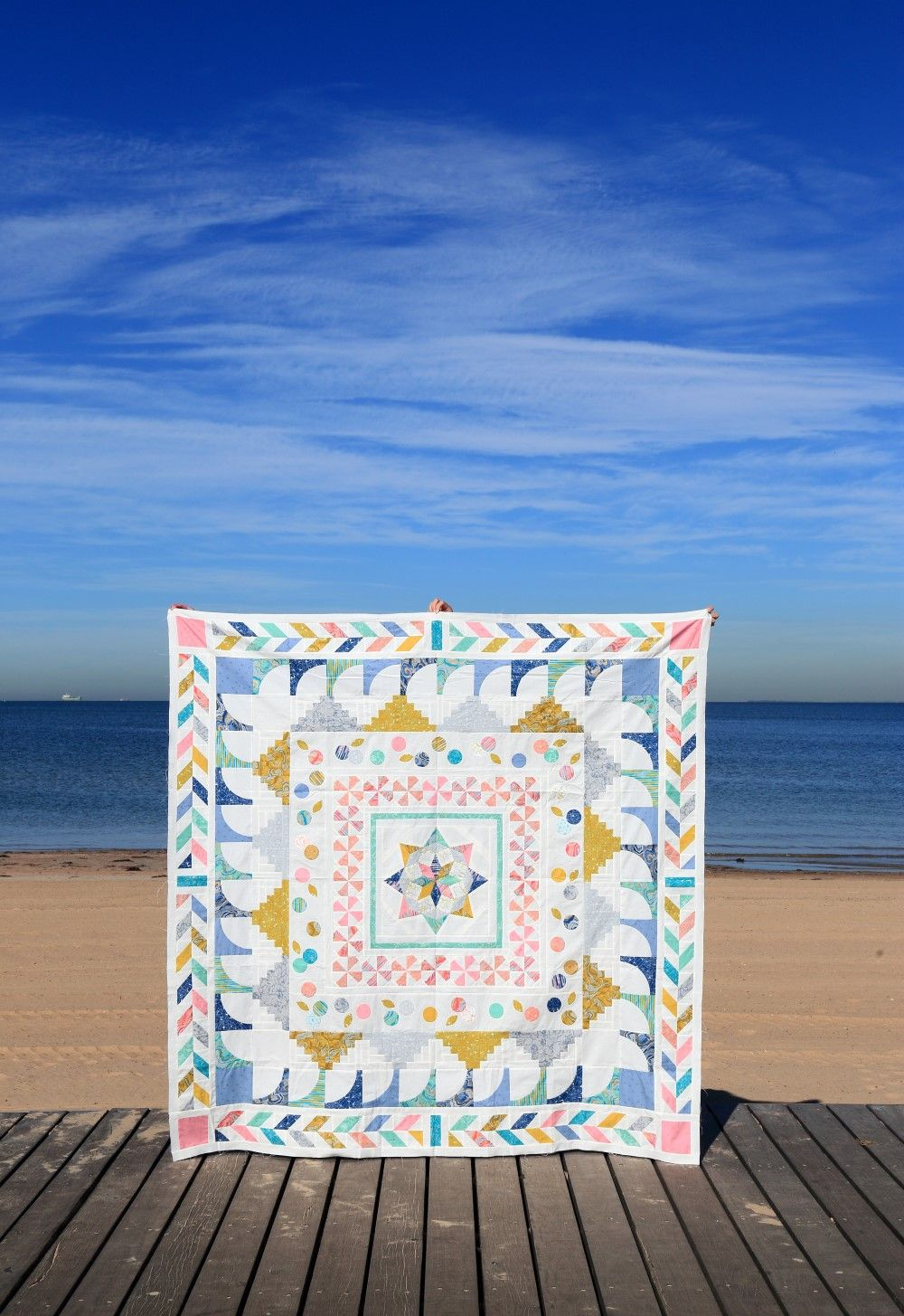 Girt By Sea A Modern Medallion Quilt Pattern Medallion