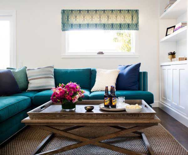 dark turquoise sofa color ideas for living room