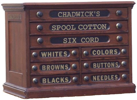Chadwick's Sewing Display | Antique Advertising Value and Price Guide - Chadwick's Sewing Display Antique Advertising Value And Price