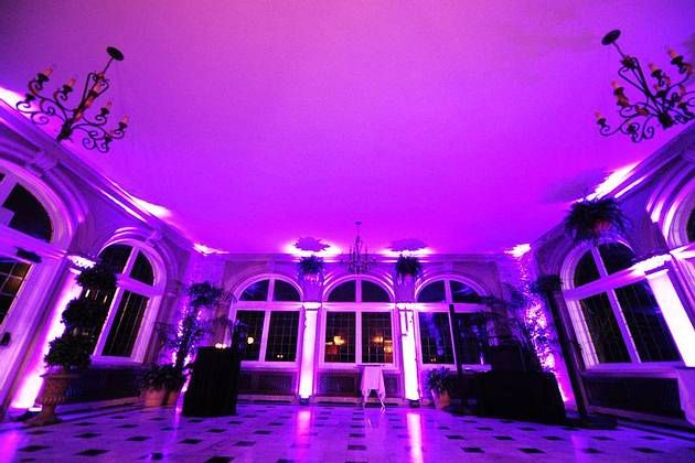 Laurel Hall Solarium As The Dance Area Wedding Reception Venue Indianapolis Up Lighting By