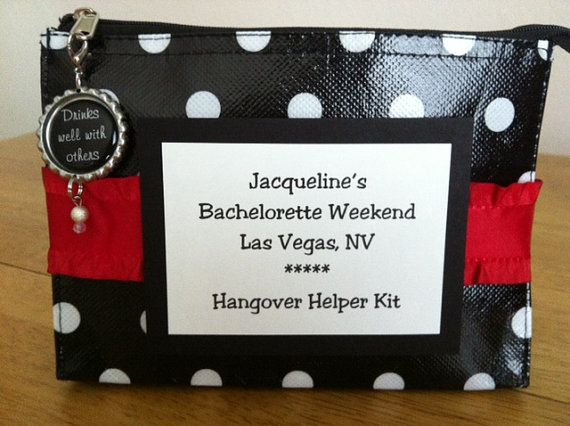 Hangover Helper Kit Wedding Party Gift By PooLaLaDiaperCakes