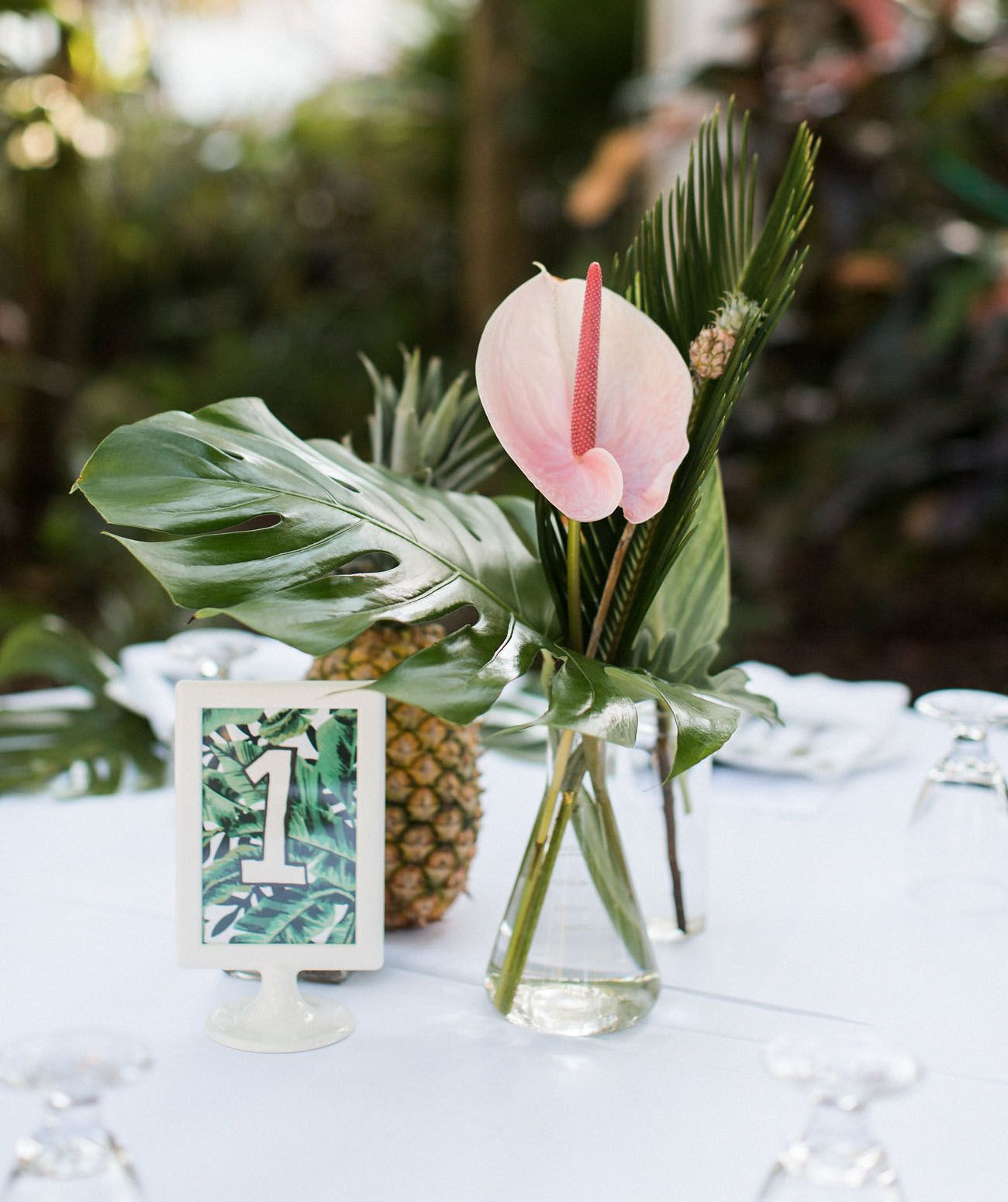Beach Wedding Flower Ideas: Tropical Wedding Reception