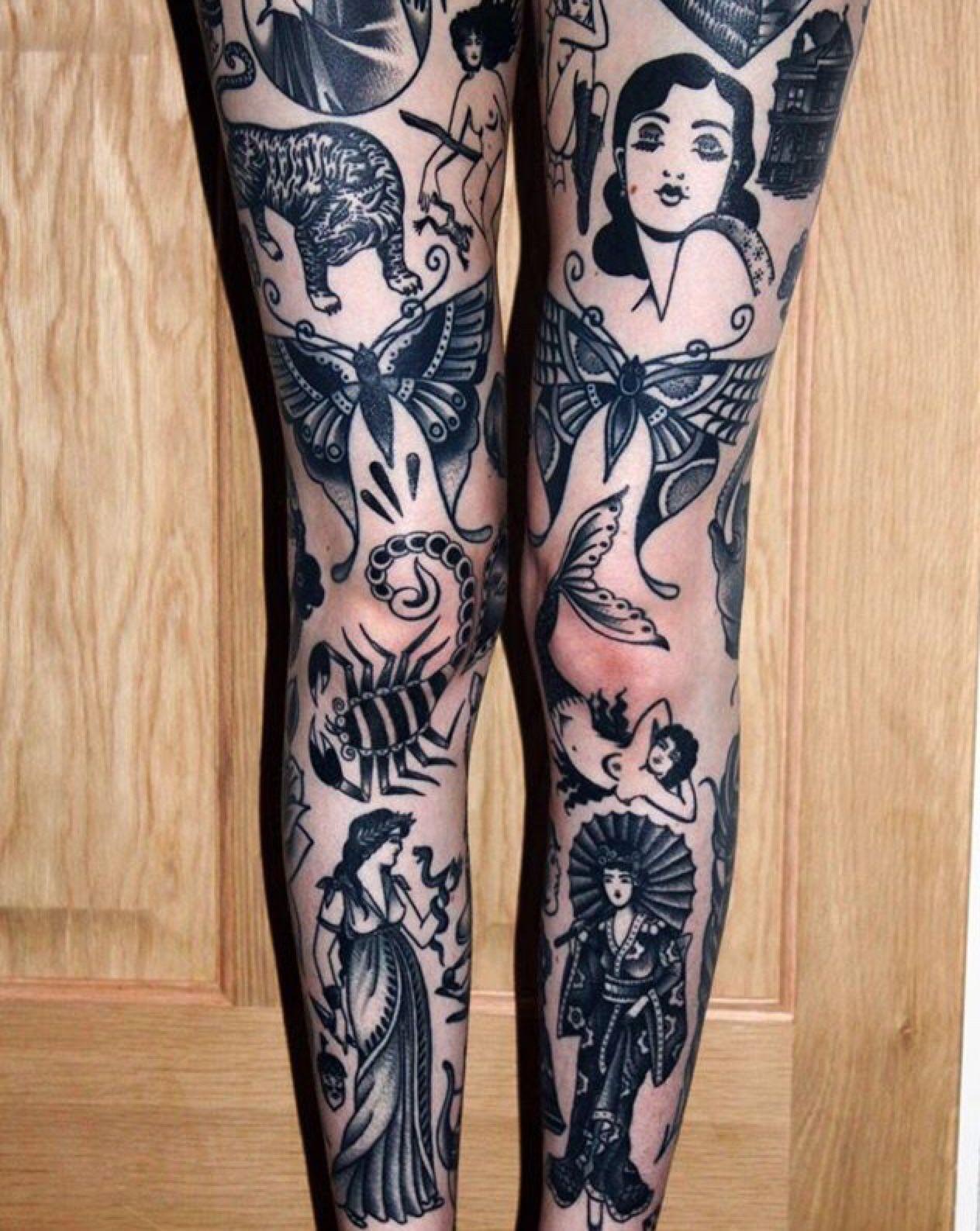 Sacred Electric Tattoo Photo Knee Tattoo Traditional Tattoo Leg Tattoos