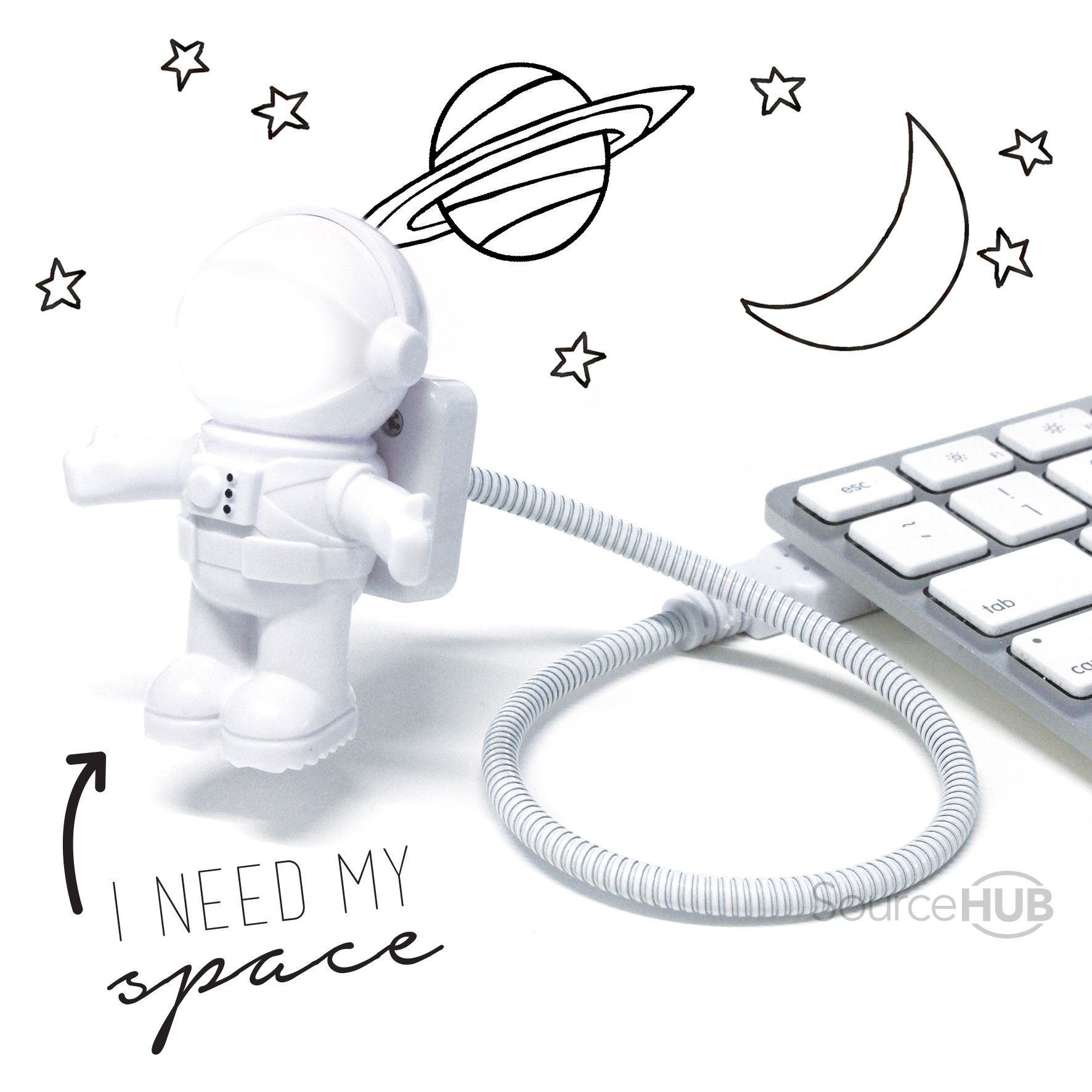 This Astronaut USB Light will light the way... Kmart, Australia.  - SourceHub Group