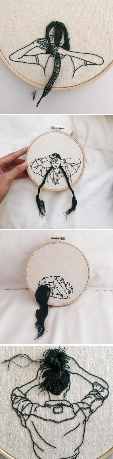 Embroidered Ladies By Sheena Liam Needles And Pins Pinterest