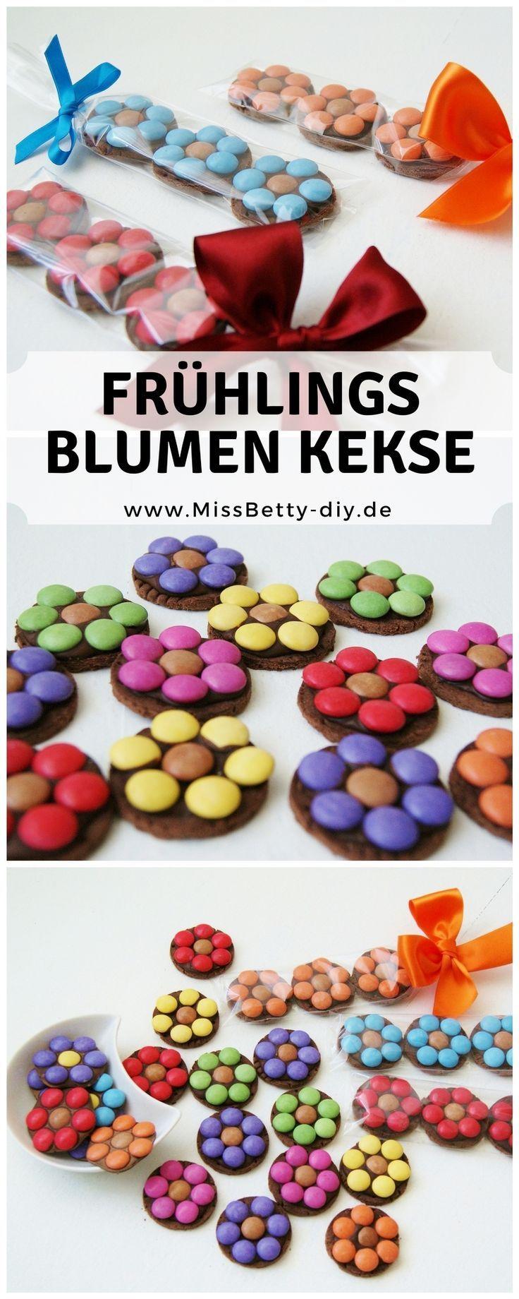 tolle blumen kekse als leckere fr hlingsnascherei ohne backen kuchen pinterest cookies. Black Bedroom Furniture Sets. Home Design Ideas