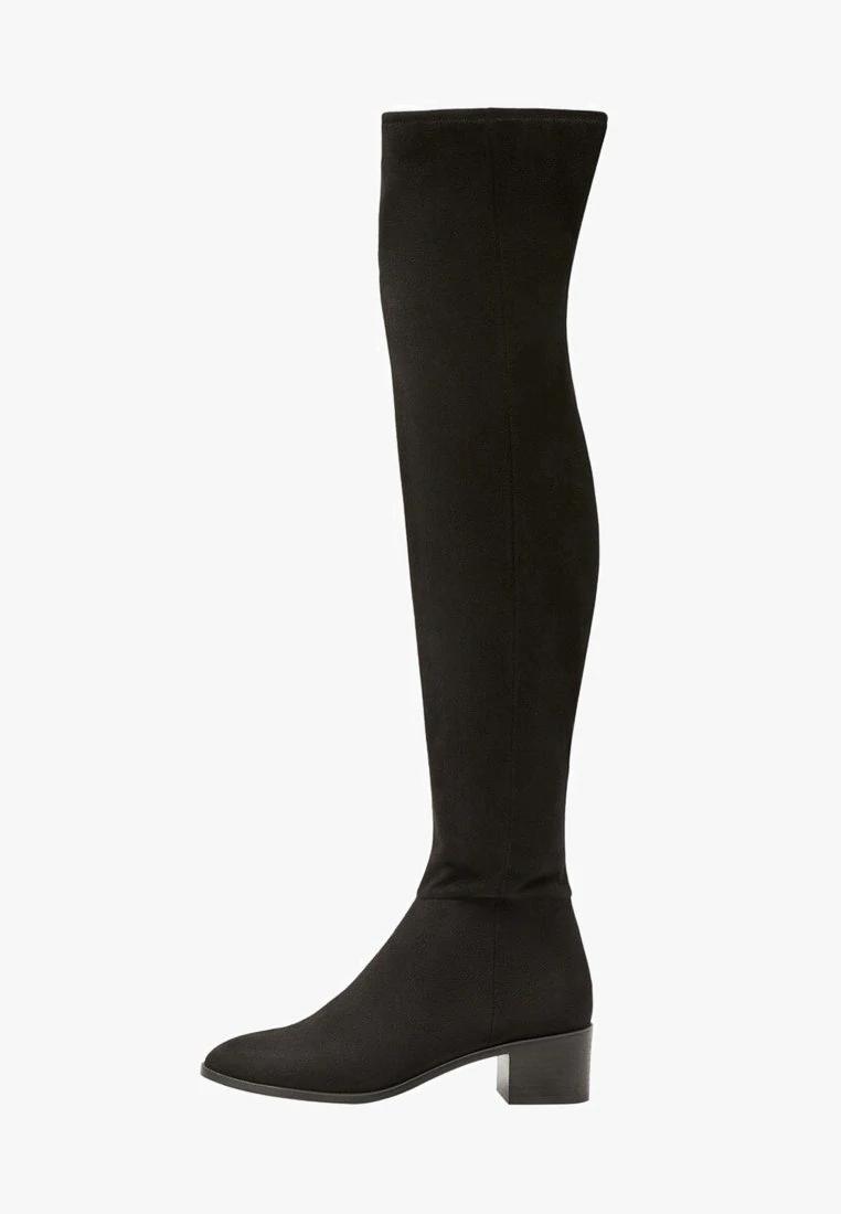 Mango Amber Muszkieterki Black Zalando Pl Knee Boots Boots Over Knee Boot