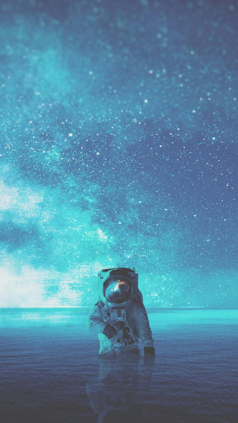 Wallpapers Day Water Space Astronaut Stars For Hd 4k Wallpapers For Desktop Mobile Phones Free Downl In 2020 Phone Wallpaper Wallpaper Space 4k Phone Wallpapers