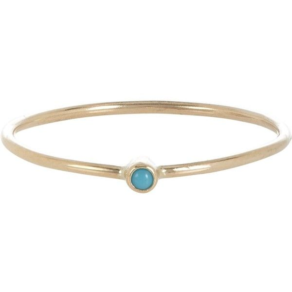 Jennifer Meyer Womens Turquoise Thin Ring WNCuAY