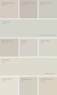 11 Greatest Best Warm Gray Paint Colors Wall