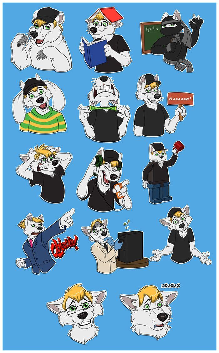 "mithmeoiart: "" Telegram stickers for my friend Ryan  "" | Furries"