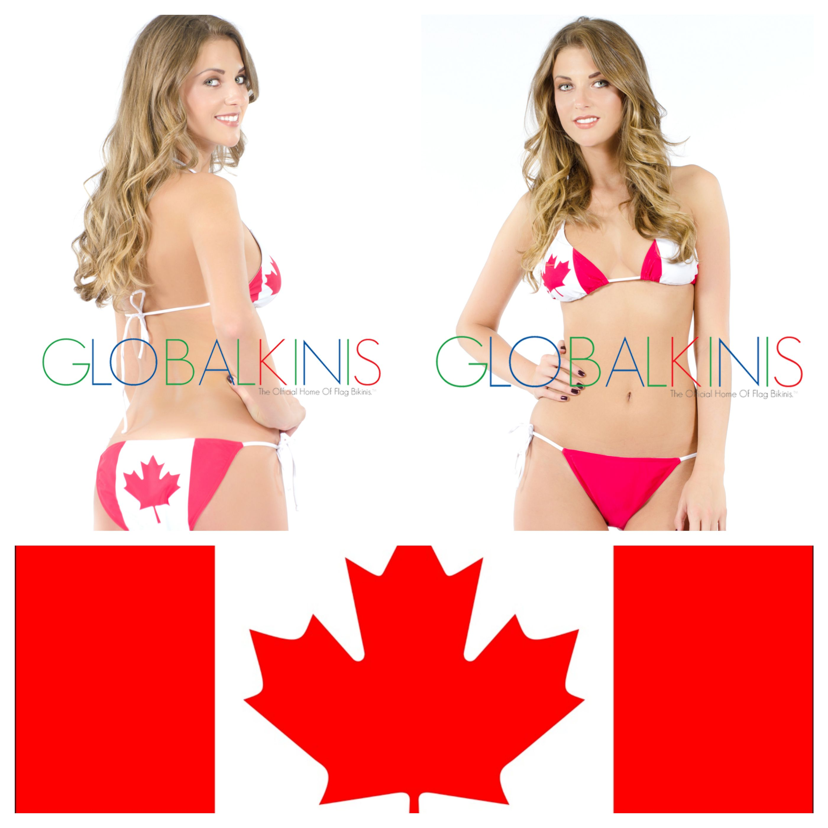 Are Bikini canada flag