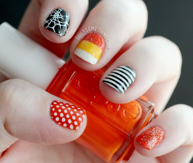 Cutesy Halloween Stamped Manicure