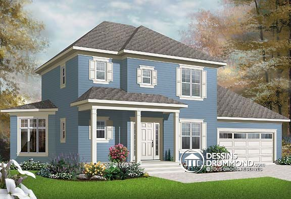 Plan de Maison unifamiliale W2747-V1, Description du plan Rez-de