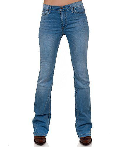 Comycom - Jeans - Bootcut - Uni - Femme Bleu Bleu - Bleu - W33 34 ... f0028c97c4