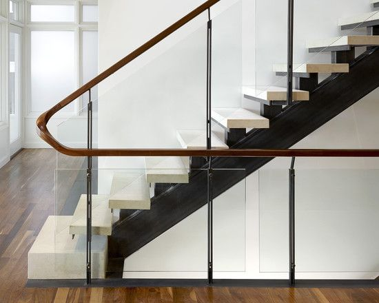 Best Glass Staircase Railing Design Open Stairs Via Houzz 400 x 300