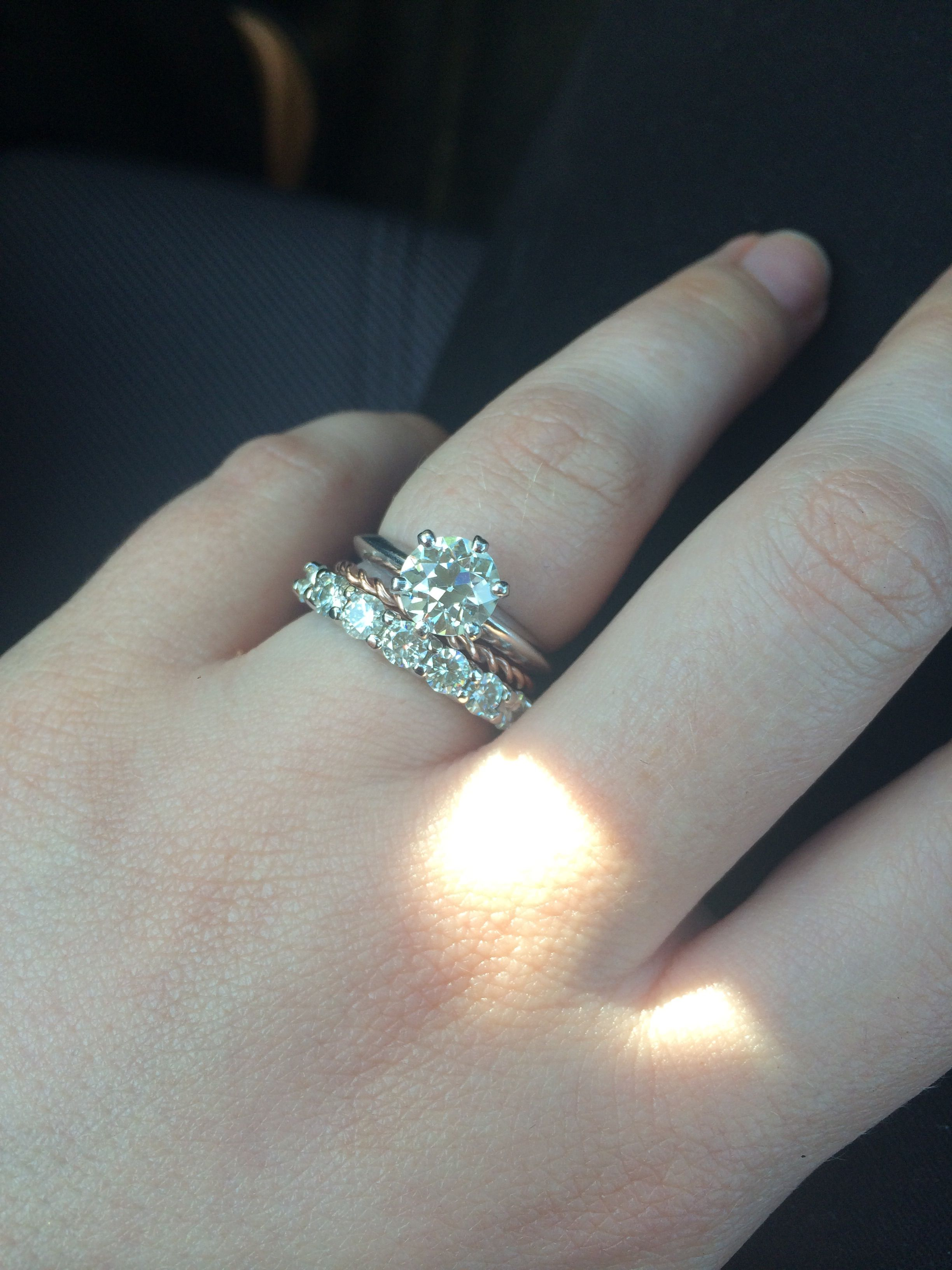 wedding ring spacer Show me your thin spacer bands please Weddingbee Page 4