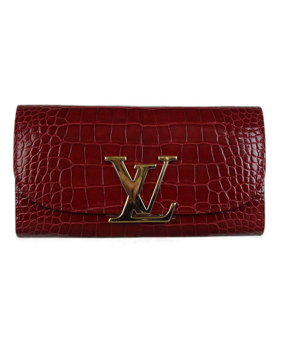 0dd2980a1f49 Louis Vuitton Red Crocodile Capucines Wallet in 2019