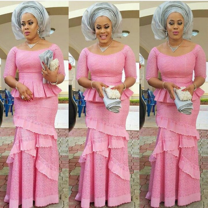 Lady slays in peplum blouse and fishtail skirt | African Fashion ...