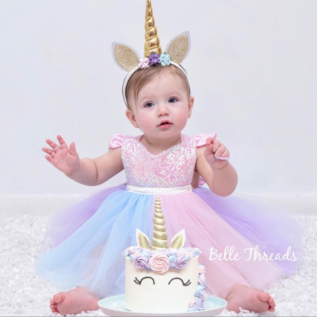 bb6f0daad6d1 Cake smash inspo 😍Our darling Rosie wears one of our Unicorn Tutus ...
