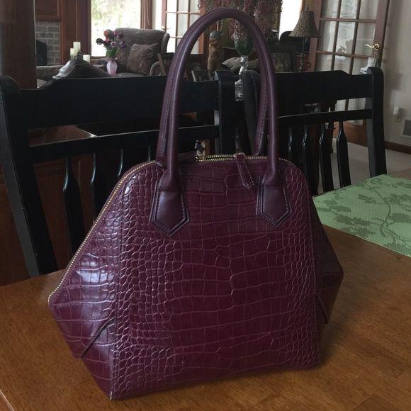 White House Black Market Handbag New this season - gently used. Cranberry color. White House Black Market Bags Satchels