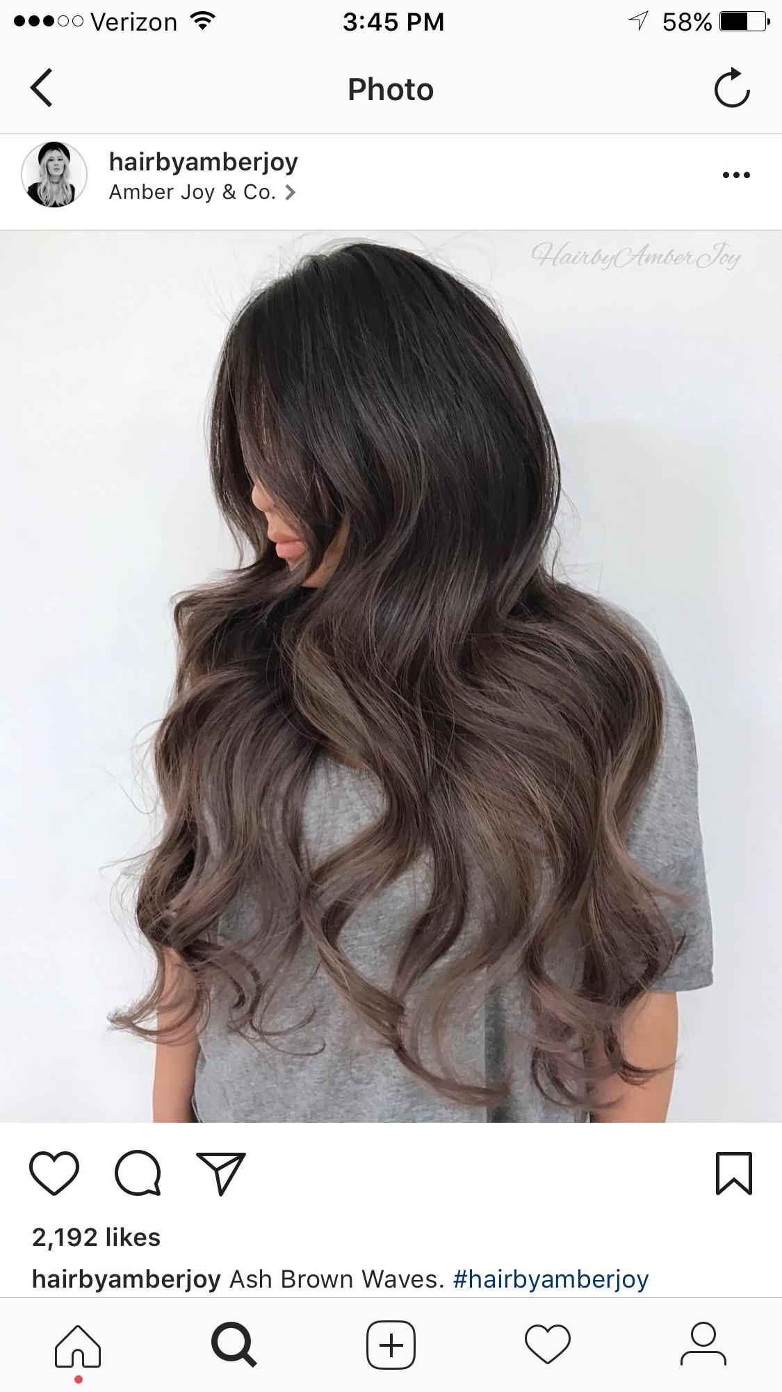 Ash Brown Melt Hair Styles Brown Hair Colors Hair Melt