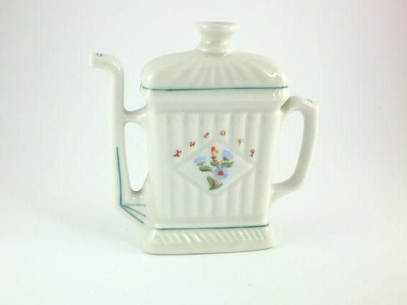 Vintage Porcelain Jug Pitcher Porcelain Vase by ContesDeFees