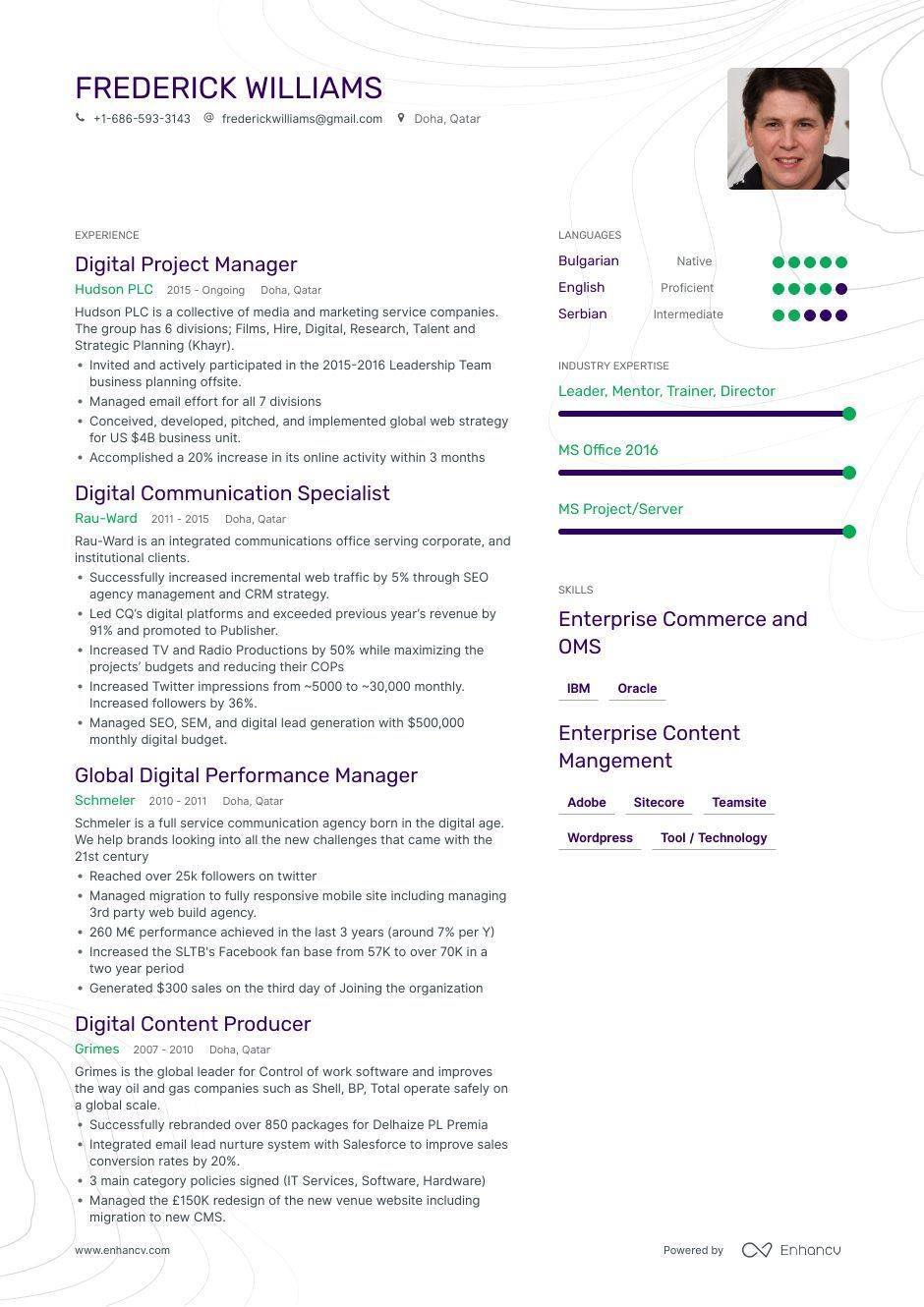 Git Resume Example and guide for 2019 Resume examples