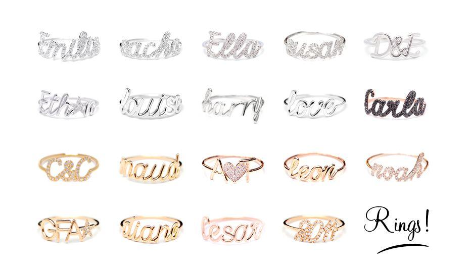 personalized jewelry in gold. www.thea-jewelry.com   Thea Jewelry ...