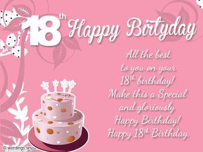 Happy 18th Birthday Emily Images 18th Birthday Cards Happy 18th