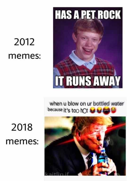 e7f172acc2c07cfaae4229969ad5c0a0 2012 memes vs 2018 memes meme, memes and dankest memes