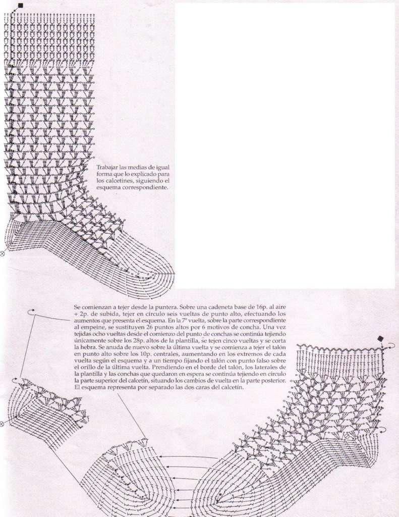 Patrones ganchillo ropa bebé - Patrón calcetines ganchillo | Crochet ...