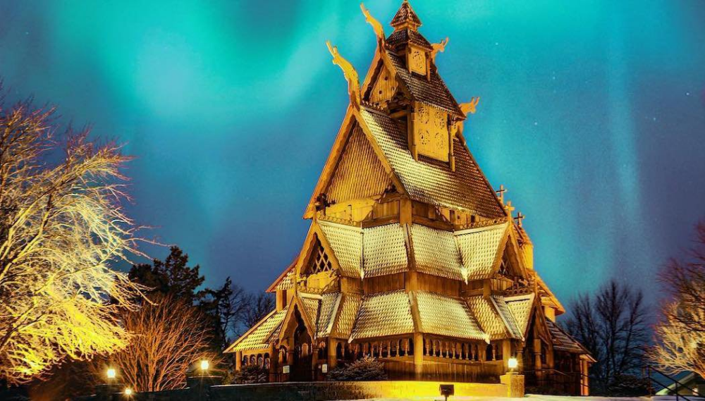 Scandinavian Heritage Park Minot Nd Road Trip Across America Building Cathedral Basilica