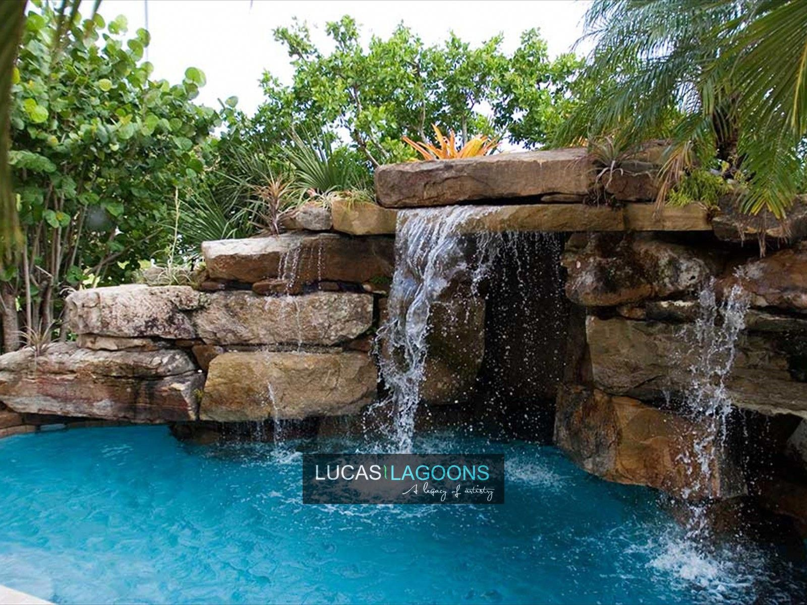 Lucas Lagoons Pools Portfolio Lucas Lagoons Pools Lagoon Pool Pool Waterfall Pool Landscaping