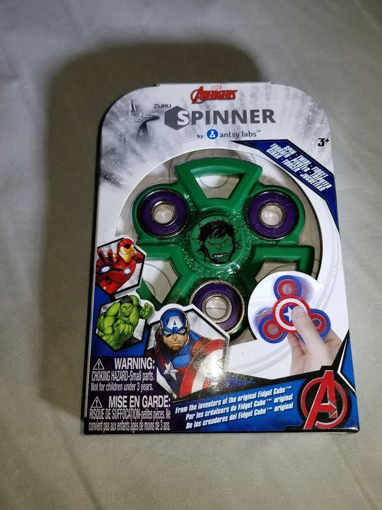 Marvel AVENGERS The HULK Green /& Purple Fidget Spinner NEW in Box By ZURU OD