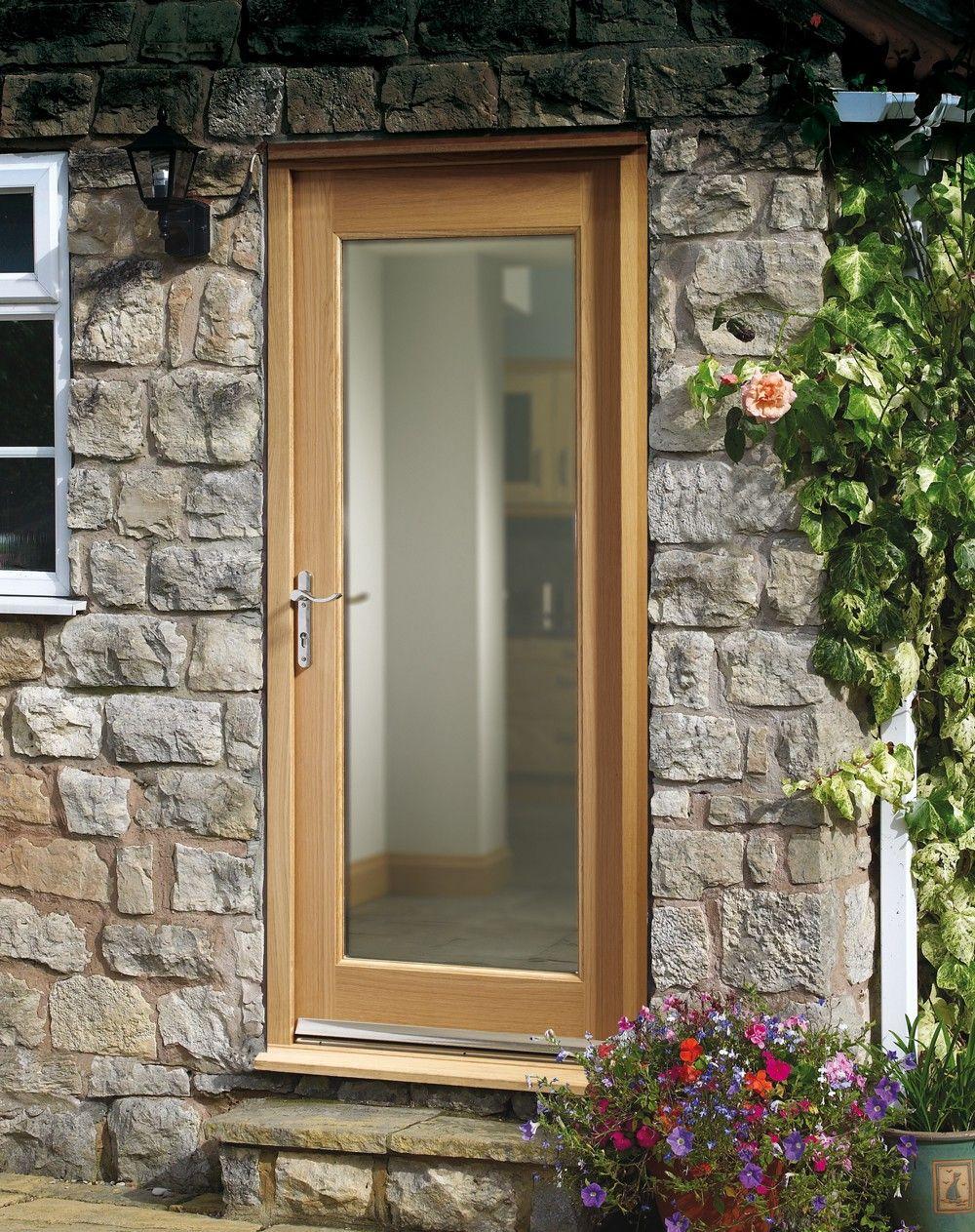 Glazed Door xl - dgop1033-44 external oak dowelled double glazed pattern 10