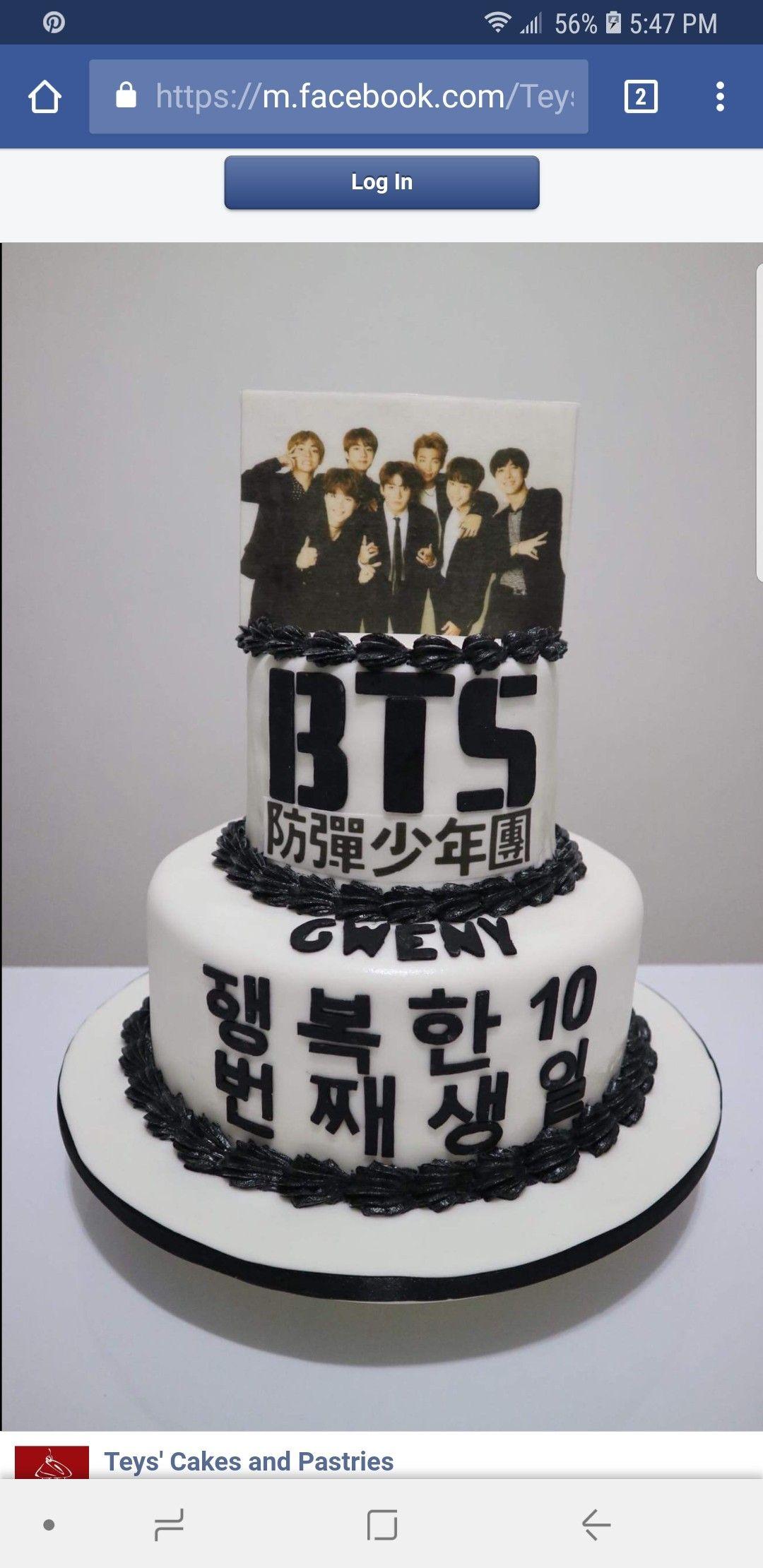 Bts Birthday Cake Bts Birthdays Bts Cake Cake