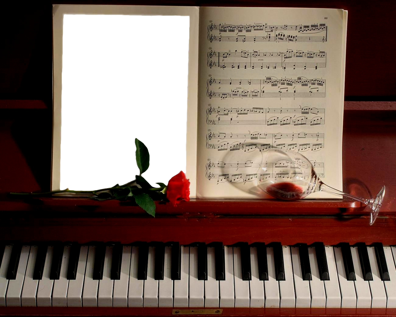 Photo Frame With Piano Quadro Png Molduras Bonecos De Papel
