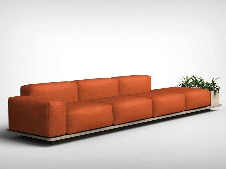 Modular fabric sofa MEET by Offecct design Fattorini Rizzini