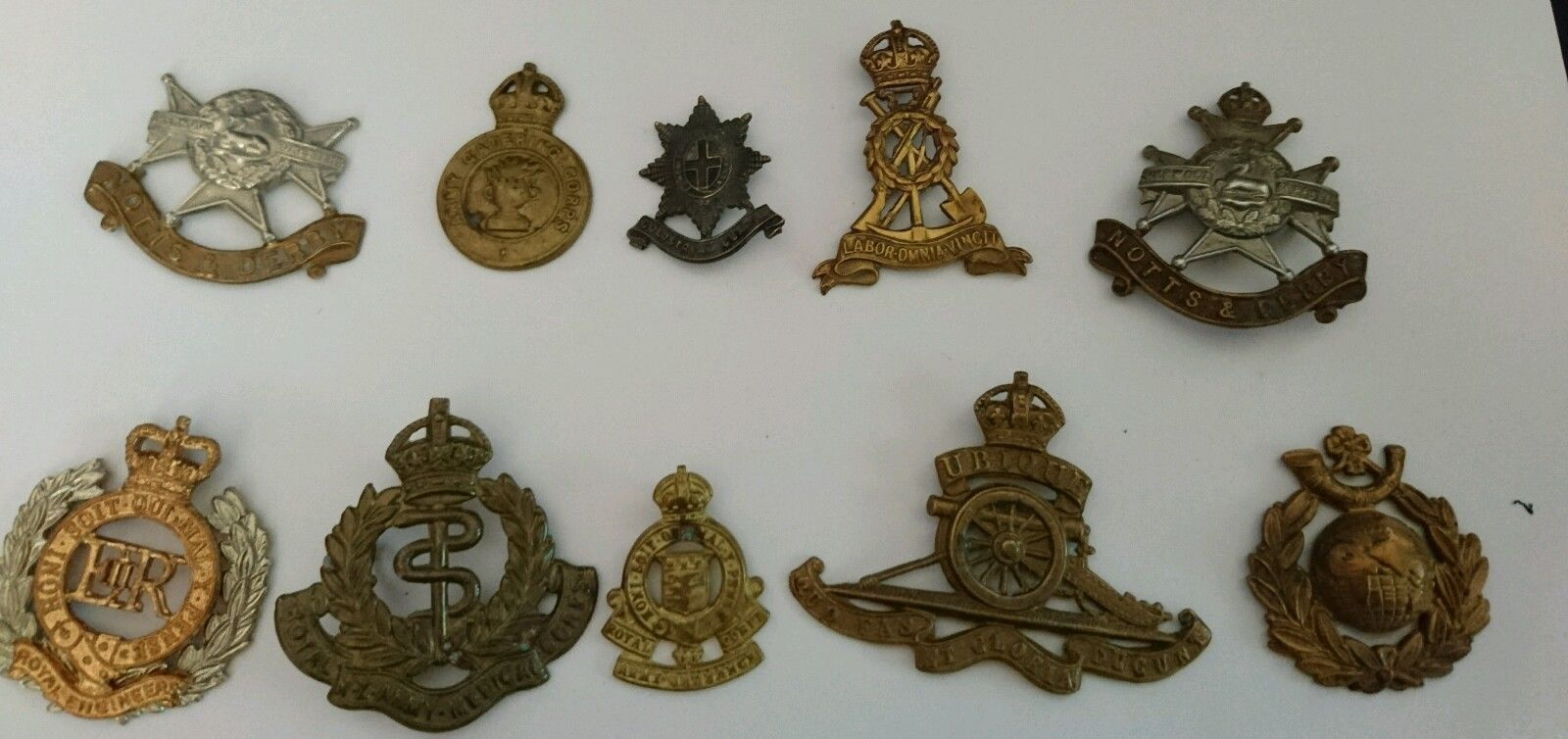 Job lot #military #badges ww1 ww2 cap #badges #(no.2),  View more on the LINK: http://www.zeppy.io/product/gb/2/331998566073/