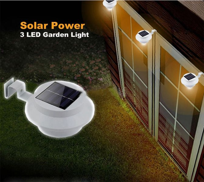 Solar Powered LED Fence Light Outdoor Garden Wall Lobby Pathway Lamp ...